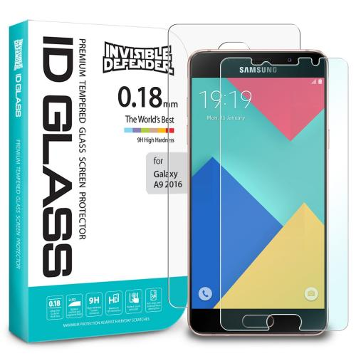 Samsung Galaxy A9 2016 Screen Protector, Ringke Invisible Defender [TEMPERED GLASS]