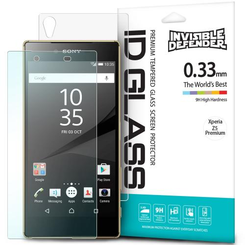 Sony Xperia Z5 Premium Screen Protector - Ringke Invisible Defender [TEMPERED GLASS]