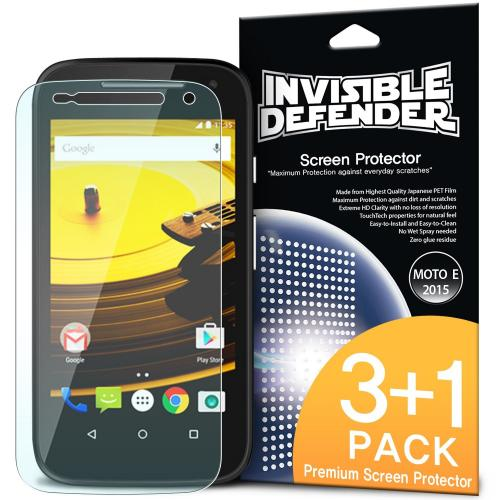 Ringke Invisible Defender 4-Pack Premium HD Crystal Clear Screen Protector for Motorola Moto E 2015