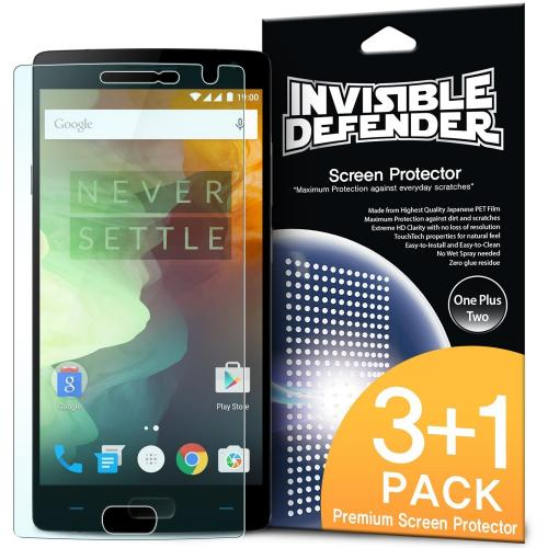 OnePlus 2 Screen Protector - Ringke Invisible Defender Premium HD Crystal Clear Screen Protector For OnePlus Two [3 Front+1 Back]