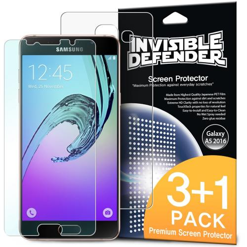 Samsung Galaxy A5 2016 Screen Protector, Ringke Invisible Defender [3+1Pack] Lifetime Warranty