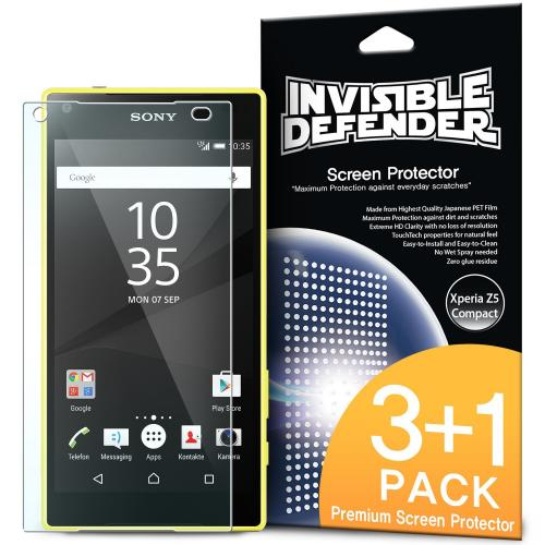 Xperia Z5 Screen Protector - Ringke Invisible Defender Premium HD Crystal Clear Screen Protector For Sony Xperia Z5 [3 Front+1 Back]