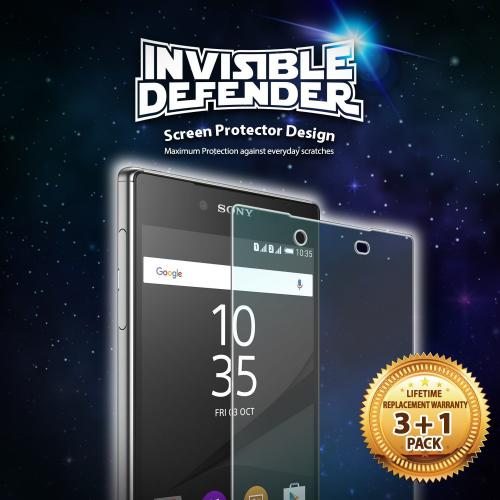 Sony Xperia Z5 Premium [Ringke Invisible Defender] Screen Protector - Premium HD Crystal Clear Screen Protector [3+1 pack]