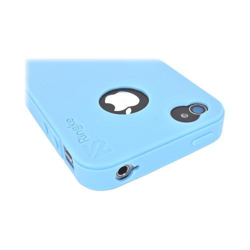 Original Rearth Apple iPhone 4S Ringke Silicone Case - Sky Blue