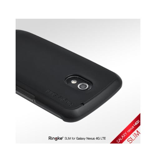 Original Rearth Samsung Galaxy Nexus Ringke Slim Hard Case w/ Screen Protector - Matte Black