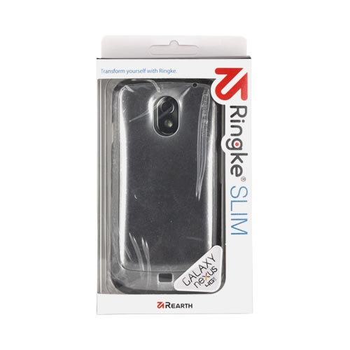 Original Rearth Samsung Galaxy Nexus Ringke Slim Hard Case w/ Screen Protector - Metallic Gray
