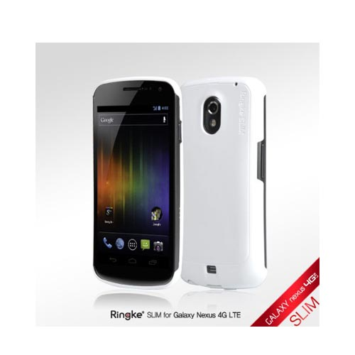 Original Rearth Samsung Galaxy Nexus Ringke Slim Hard Case w/ Screen Protector - Alpine White