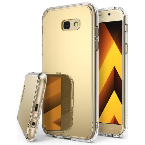 Samsung Galaxy A5 2017 Case, Ringke [FUSION MIRROR] Beauty Reflection Radiant Luxury Mirror Protection Cover - Royal Gold