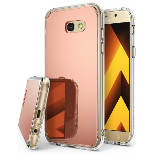 Samsung Galaxy A5 2017 Case, Ringke [FUSION MIRROR] Beauty Reflection Radiant Luxury Mirror Protection Cover - Rose Gold