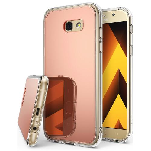 Samsung Galaxy A7 2017 Case, Ringke [FUSION MIRROR] Beauty Reflection Radiant Luxury Mirror Protection Cover - Rose Gold