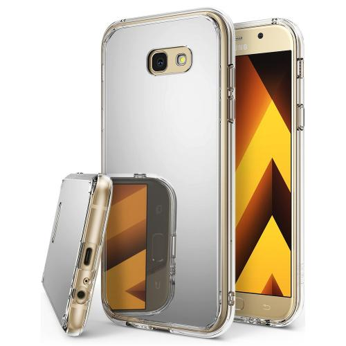 Samsung Galaxy A7 2017 Case, Ringke [FUSION MIRROR] Beauty Reflection Radiant Luxury Mirror Protection Cover - Silver