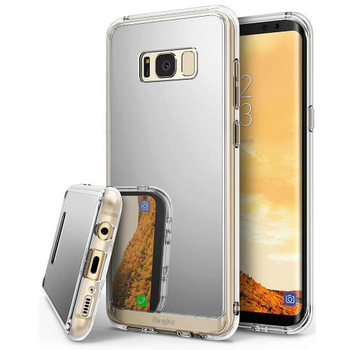 Samsung Galaxy S8 2017 Case, Ringke [Fusion Mirror] Bright Reflection Radiant Luxury Mirror Bumper [Shock Absorption Technology] Slim Stylish Protective Cover - Silver