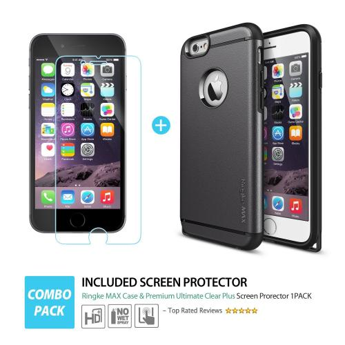 Apple iPhone 6 PLUS/6S PLUS (5.5 inch)Case, Ringke [Black] MAX Series Double Layer Heavy Protection Armor Case