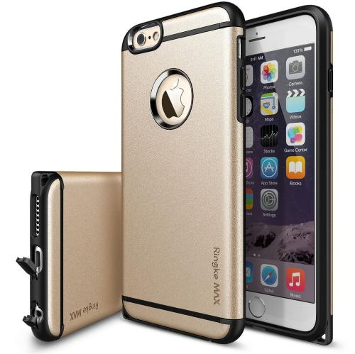 iPhone 6 Plus Dual Layer Case by Ringke [Roy Gold] Max Series Featuring Heavy Duty Protection Armor Case with Dust Cap for Slim Max Protection