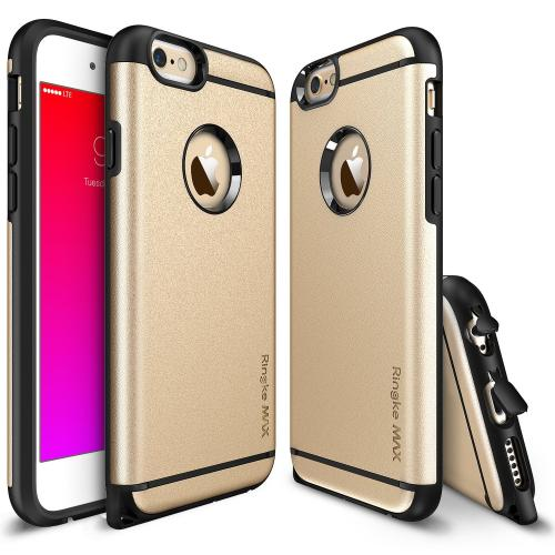 iPhone 6 Dual Layer Case by Ringke [Roy Gold] Max Series Featuring Heavy Duty Protection Armor Case with Dust Cap for Slim Max Protection