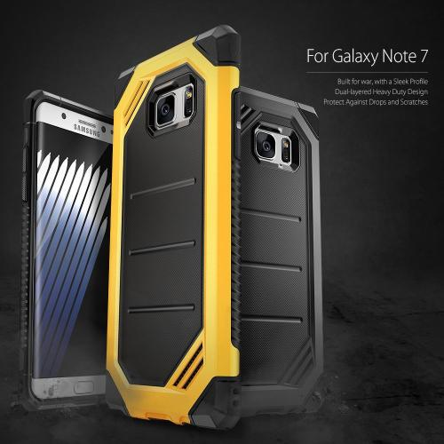 Samsung Galaxy Note 7  Case, Ringke [Gunmetal] MAX [Shock Absorption Technology] Stylish Armor Strength Resistant Protective Cover Case