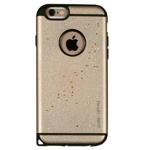 iPhone 6 Case, Ringke [Milky Way Royal Gold] NOBLE Series Swarovski Armor Case - Premium Handcrafted Rhinestone Crystal Dual Layer Hybrid Armor Case for Apple iPhone 6 - Retail Packaging