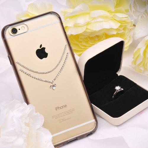 Apple iPhone 6 PLUS/6S PLUS (5.5 inch) Case, Ringke [Necklace Smoke Black] NOBLE Series Swarovski Armor Case - Premium Handcrafted Rhinestone Crystal Dual Layer Hybrid Armor Case for Apple iPhone 6 Plus - Retail Packaging
