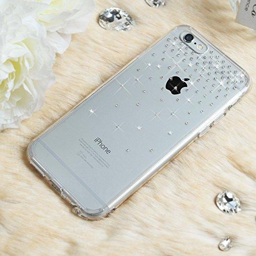 Apple iPhone 6 PLUS/6S PLUS (5.5 inch) Case, Ringke [Snow Crystal View] NOBLE Series Swarovski Armor Case - Premium Handcrafted Rhinestone Crystal Dual Layer Hybrid Armor Case for Apple iPhone 6 Plus - Retail Packaging