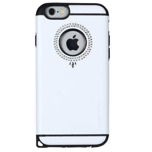 Apple iPhone 6 PLUS/6S PLUS (5.5 inch) Case, Ringke [Pendant White] NOBLE Series Swarovski Armor Case - Premium Handcrafted Rhinestone Crystal Dual Layer Hybrid Armor Case for Apple iPhone 6 PLUS/6S PLUS (5.5 inch) - Retail Packaging