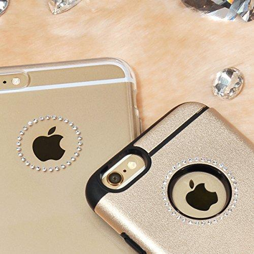 Apple iPhone 6 PLUS/6S PLUS (5.5 inch) Case, Ringke [Ring Black] NOBLE Series Swarovski Armor Case - Premium Handcrafted Rhinestone Crystal Dual Layer Hybrid Armor Case for Apple iPhone 6 PLUS/6S PLUS (5.5 inch) - Retail Packaging