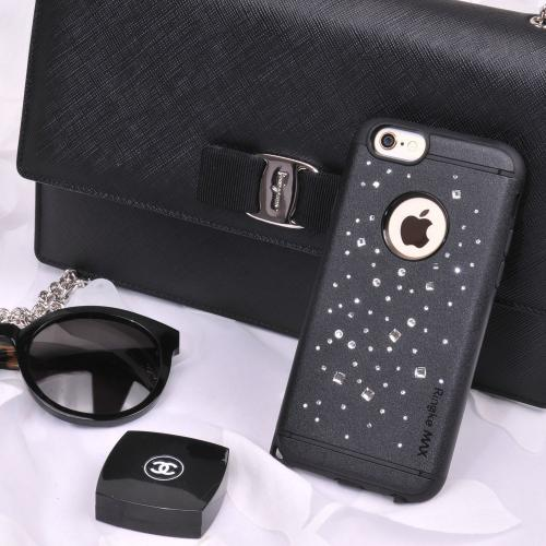 Apple iPhone 6 PLUS/6S PLUS (5.5 inch) Case, Ringke [Space Black] NOBLE Series Swarovski Armor Case - Premium Handcrafted Rhinestone Crystal Dual Layer Hybrid Armor Case for Apple iPhone 6 PLUS/6S PLUS (5.5 inch) - Retail Packaging