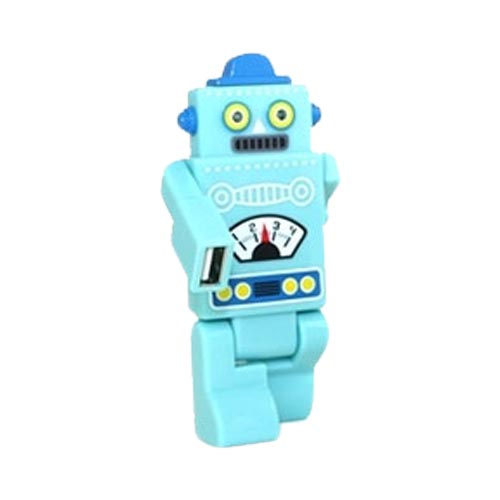 Robot USB HUB w, 4 Ports and LED Eyes (2.0 Hi-Speed) Mini USB Cable Included - Baby Blue