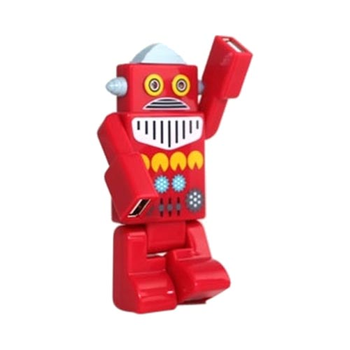 Robot USB HUB w, 4 Ports and LED Eyes (2.0 Hi-Speed) Mini USB Cable Included - Red