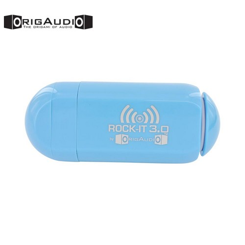 OrigAudio Universal Rock-It 3.0 Portable Vibration Speaker w/ Rechargeable Battery (3.5mm) - Sky Blue