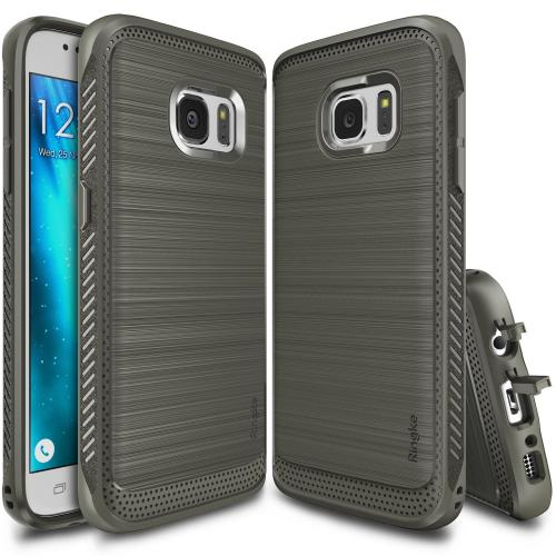 Galaxy S7 Case, Ringke [Mist Gray] ONYX Flexible Durability Anti-Slip TPU Defensive Case