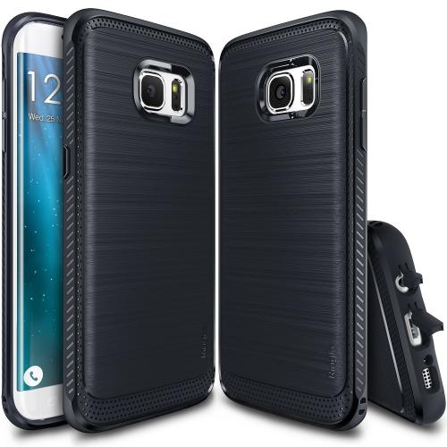 Galaxy S7 Case, Ringke [ONYX][Midnight Navy] Flexible Durability Anti-Slip TPU Defensive Case