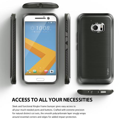 [HTC 10] Case, Ringke ONYX [Gray] Durable Anti-Slip Drop Protection, TPU Defensive Case for HTC HTC 10