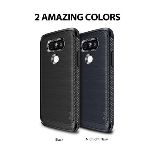 LG G5  Case, Ringke [Black] ONYX Durable Anti-Slip Drop Protection, TPU Defensive Case