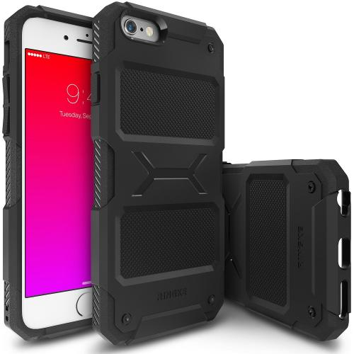 iPhone 6S / 6 Case, Ringke REBEL Series [Black] Improved Strength Flexible TPU Defensive Hybrid Case