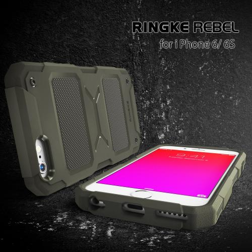 Apple iPhone 6 PLUS/6S PLUS (5.5 inch) Case, Ringke REBEL Series [Black] Improved Strength Flexible TPU Defensive Hybrid Case
