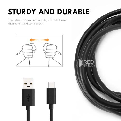 REDShield® Micro USB 2.0 Sync & Charge Data Transfer Cable [3 Feet]