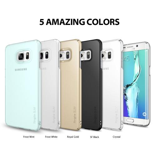 Samsung Galaxy S6 Edge Plus, Ringke [Frost White] SLIM Series Full Top/Bottom Coverage Dual Coated Hard Case