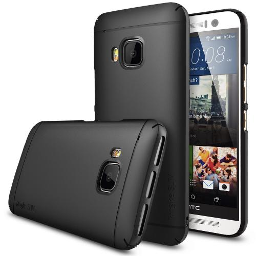 HTC One M9 Case by Ringke [Black] Slim Series Featuring Premium Polycarbonate Cover for Better Grip with Free Screen Protector