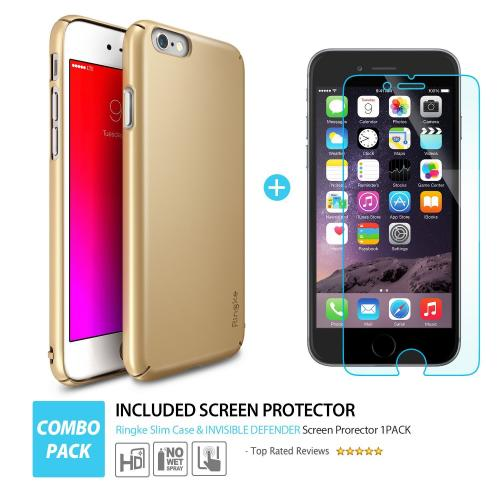 Apple iPhone 6S PLUS (5.5 inch) Hard Case, Ringke [Clear View] SLIM Series Perfect Fit & Slim Scratch-Resistant Protective Hard Case w/ Free Screen Protector