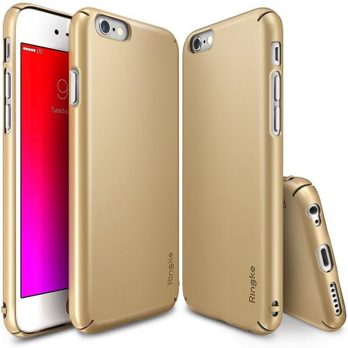 Apple iPhone 6S PLUS (5.5 inch) Hard Case, Ringke [Royal Gold] SLIM Series Perfect Fit & Slim Scratch-Resistant Protective Hard Case w/ Free Screen Protector
