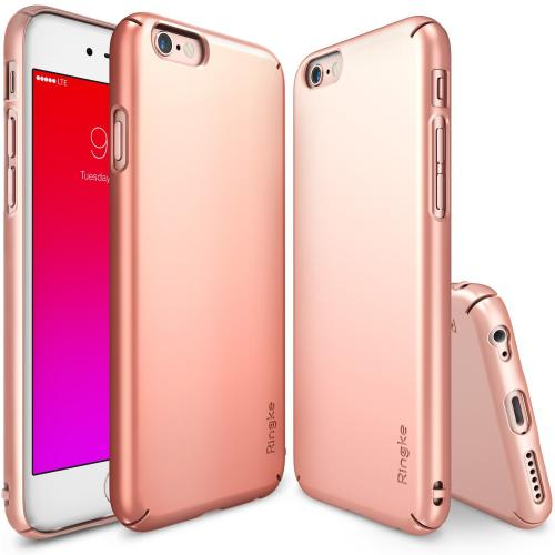 Manufacturers iPhone 6S Case, Ringke SLIM Series [Rose Gold] Perfect Fit & Ultra Slim Scratch-Resistant Protective Hard Case Silicone Cases / Skins