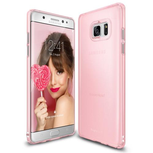 Samsung Galaxy Note 7  Case, Ringke [Frost Pink] SLIM Snug-Fit Slender [Tailored Cutouts] Ultra-Thin Fluid Curved Edge Enhance Protective Case Superior Coating PC Hard Skin Cover
