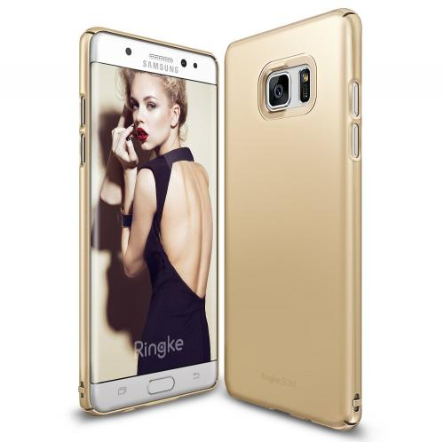 Samsung Galaxy Note 7, Ringke [SLIM] Perfect Fit Scratch-Resistant Protective Hard Case [Gold]