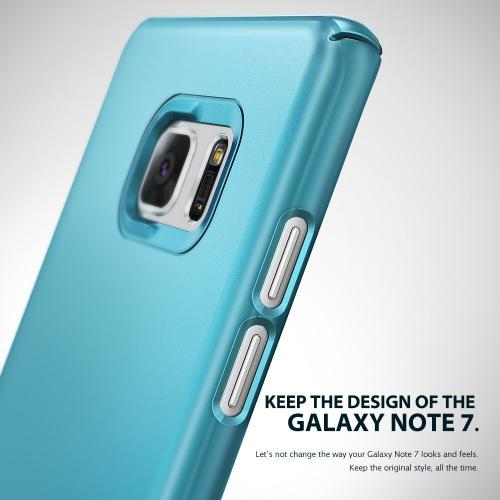 Samsung Galaxy Note 7  Case, Ringke [Ocean Blue Coral] SLIM Snug-Fit Slender [Tailored Cutouts] Ultra-Thin Fluid Curved Edge Enhance Protective Case Superior Coating PC Hard Skin Cover