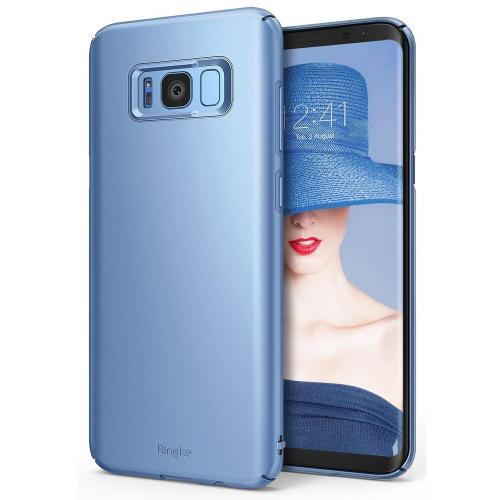 Galaxy S8 Case, Ringke [SLIM Series] Dazzling Slender [Laser Precision Cutouts] Fashionable & Classy Superior Steadfast Bolstered PC Hard Skin cover for Samsung Galaxy S8 - Blue Pearl