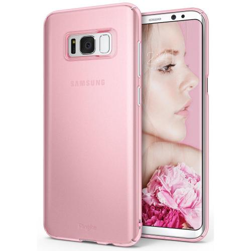 Samsung Galaxy S8 Case, Ringke [SLIM Series] Dazzling Slender [Laser Precision Cutouts] Fashionable & Classy Superior Steadfast Bolstered PC Hard Skin cover - Frost Pink
