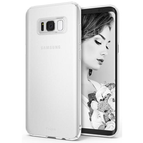 Samsung Galaxy S8 Case, Ringke [SLIM Series] Dazzling Slender [Laser Precision Cutouts] Fashionable & Classy Superior Steadfast Bolstered PC Hard Skin cover - Frost White