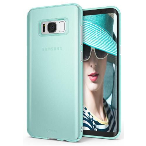 Galaxy S8 Plus Case, Ringke [SLIM Series] Dazzling Slender [Laser Precision Cutouts] Fashionable & Classy Superior Steadfast Bolstered PC Hard Skin cover for Samsung Galaxy S8+ - Frost Mint