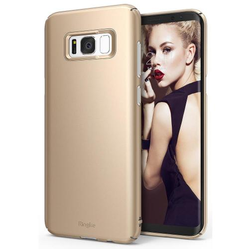 Samsung Galaxy S8 Case, Ringke [SLIM Series] Dazzling Slender [Laser Precision Cutouts] Fashionable & Classy PC Hard Skin cover - Royal Gold