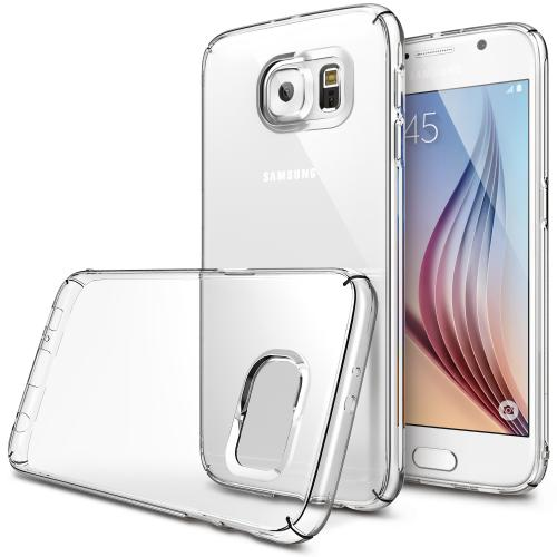 [Samsung Galaxy S6] Case, Ringke [Clear] SLIM Series Featuring Slim Dual Coated Matte Hard Protective Polycarbonate w/ Free Screen Protector